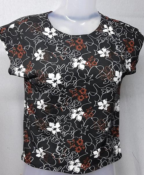 Black Lily Design Womens Tshirt