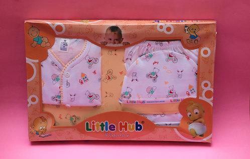 Dark Orange 4 Pcs baby Set (0-9 Mnths).