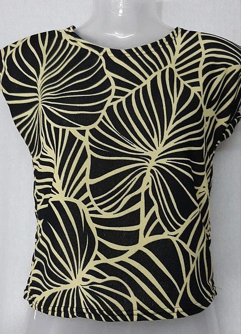Black leaf Design Womens Tshirt