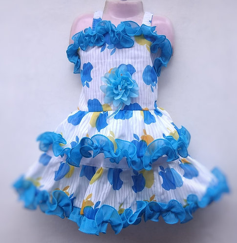 Blue Baby Girl Frock (1-3 years)