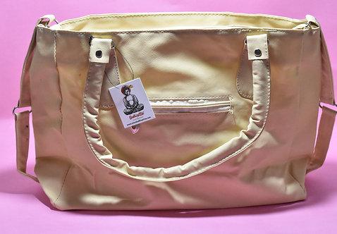 Light Cream PU Leather Hand Bag.