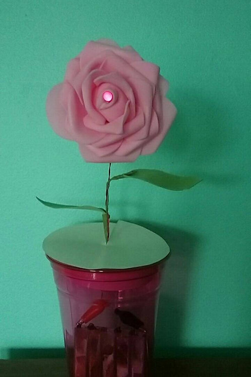 Bio-Battery Powered Electronic Rose