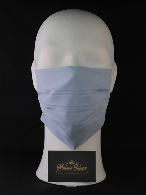 comfortmasker FOD plissée hemelsblauw