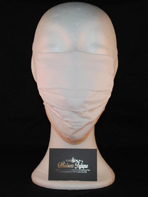 comfortmasker FOD plissée wit met sierbies
