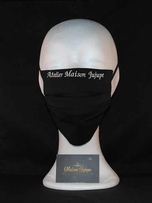personaliseerbaar mondkapje zwart