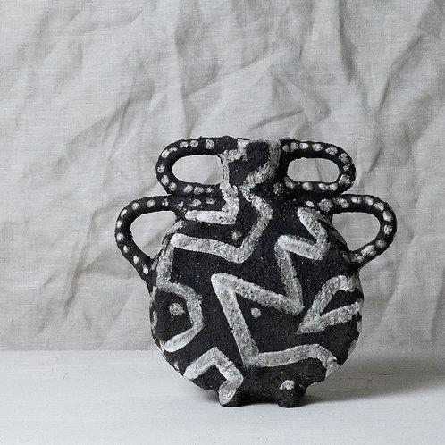 mini black vase