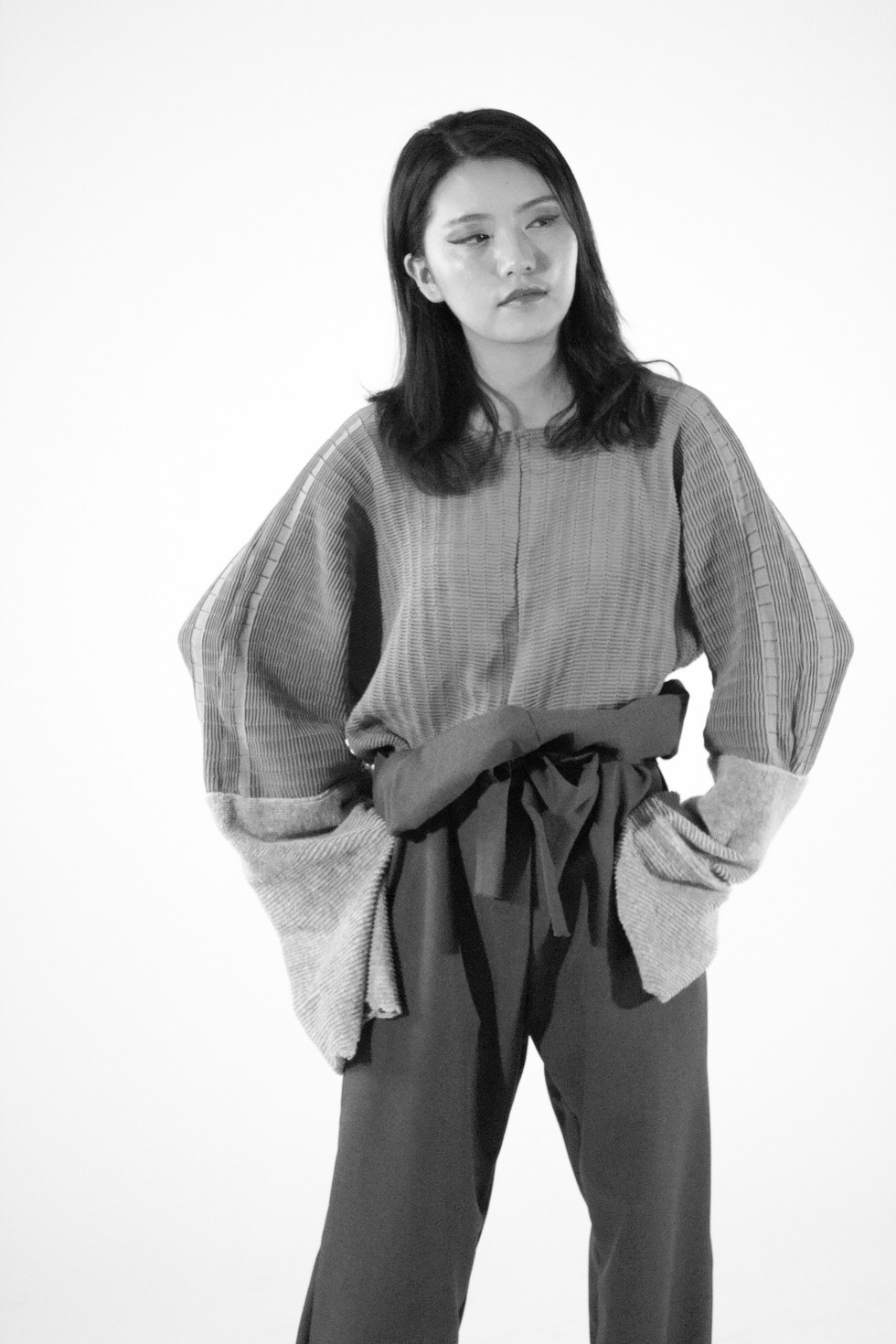 I have photographed this work to showcase the knitwear designs by fashion design graduate Alice Bracken.   Model: Blair Wang