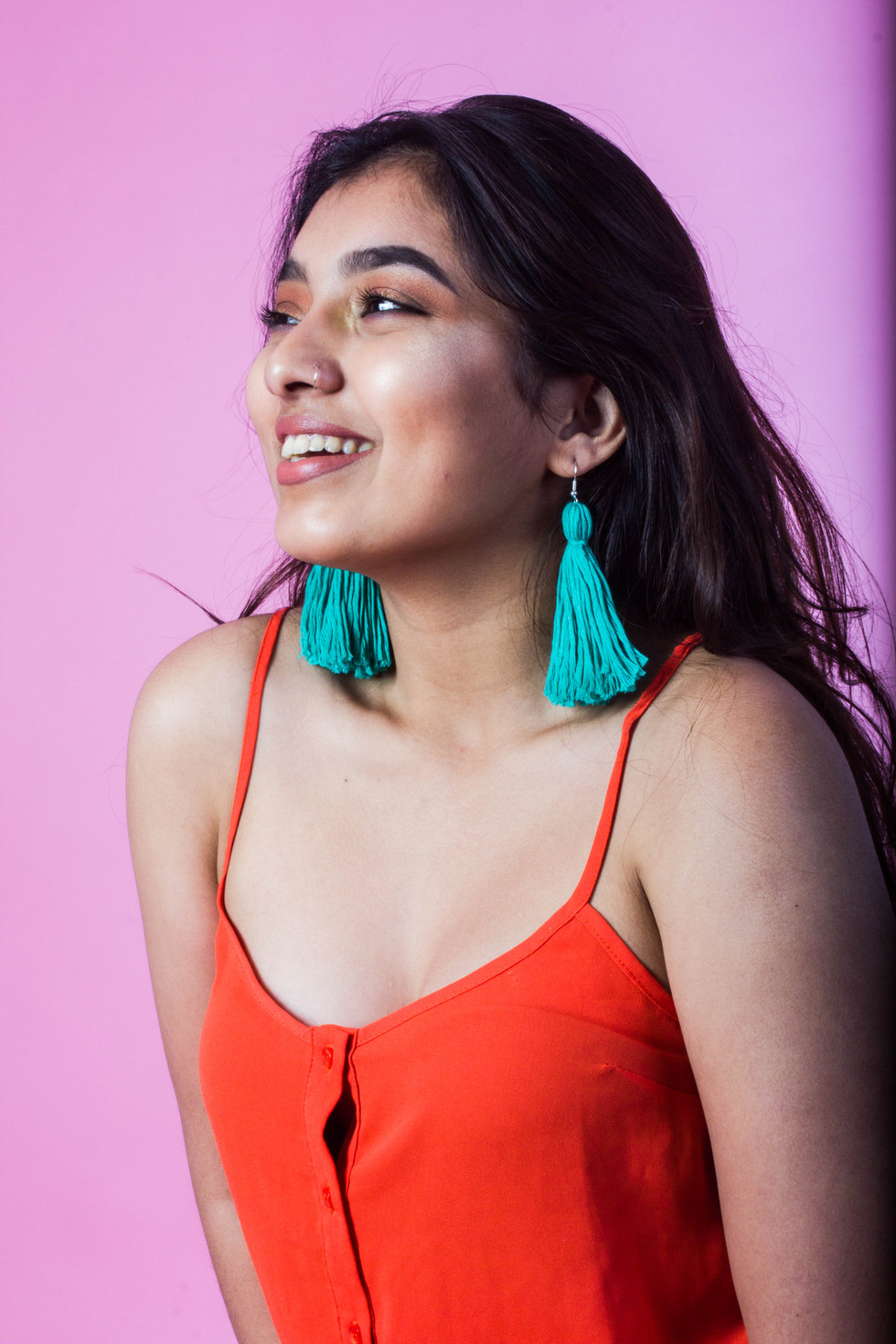 "I created this piece for the online platform Etsy UK, to be featured in the ""Editor's picks"" section, for category of jewellery.   Model: Mithara Peiris"