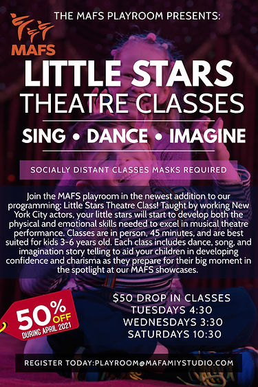 Little Stars 50% off during April 2021.s
