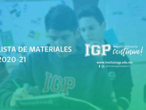 Lista de Materiales IGP 20-21