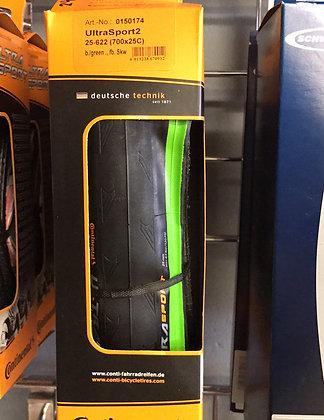 Continenatal Ultrasport II Green 700x25