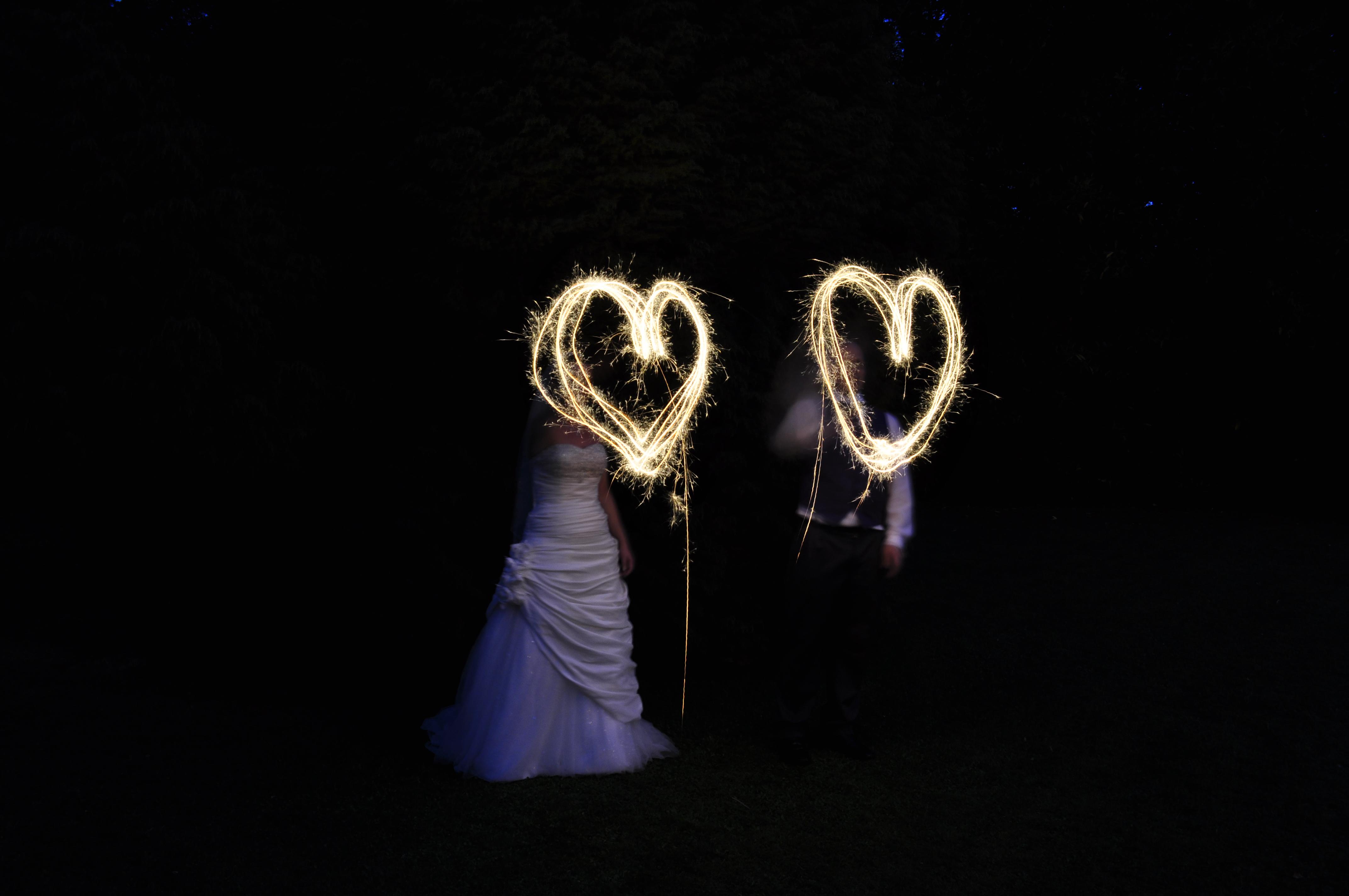 night time wedding video