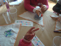 Arte & Ciencia: Teñir banderines