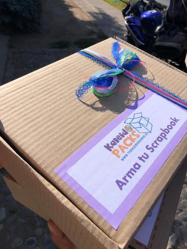 Nuevo empaque, cajas recicladas kaleidop