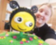 bumble bee cake tutorial