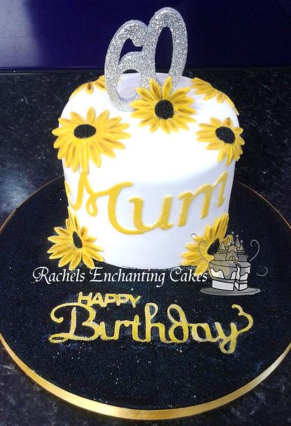 sunflower birthday cake