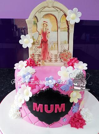 art deco styled birthday cake by rachels enchanting cakes sheffield