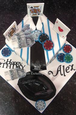 gambling themed cake