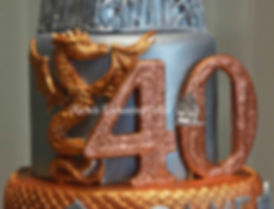 game of thrones 40th birthday cake