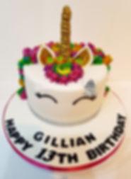 unicorn cake chesterfield