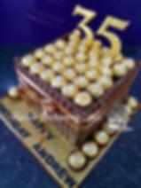 Ferrero Rocher Styled Birthday Cake by Rachels Enchanting Cakes