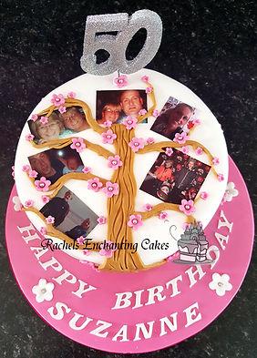 framily tree birthday cake