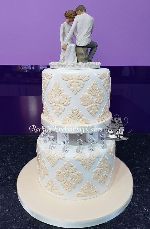 Ivory Wedding Cake by Rachels Enchanting Cakes Sheffield