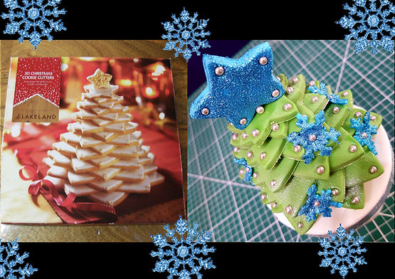 3D Christmas Tree Cookie Cutter Set by L