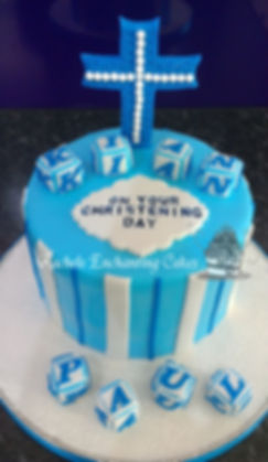 Blue Cross Christening Cake