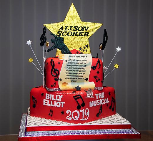 Billy Elliot Themed Cake