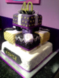 art deco 40th birthda cake