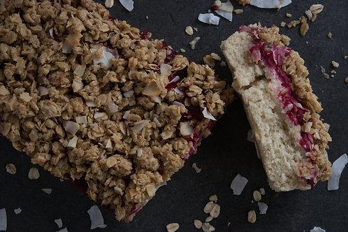 *Vegan Raspberry Crumb Cake