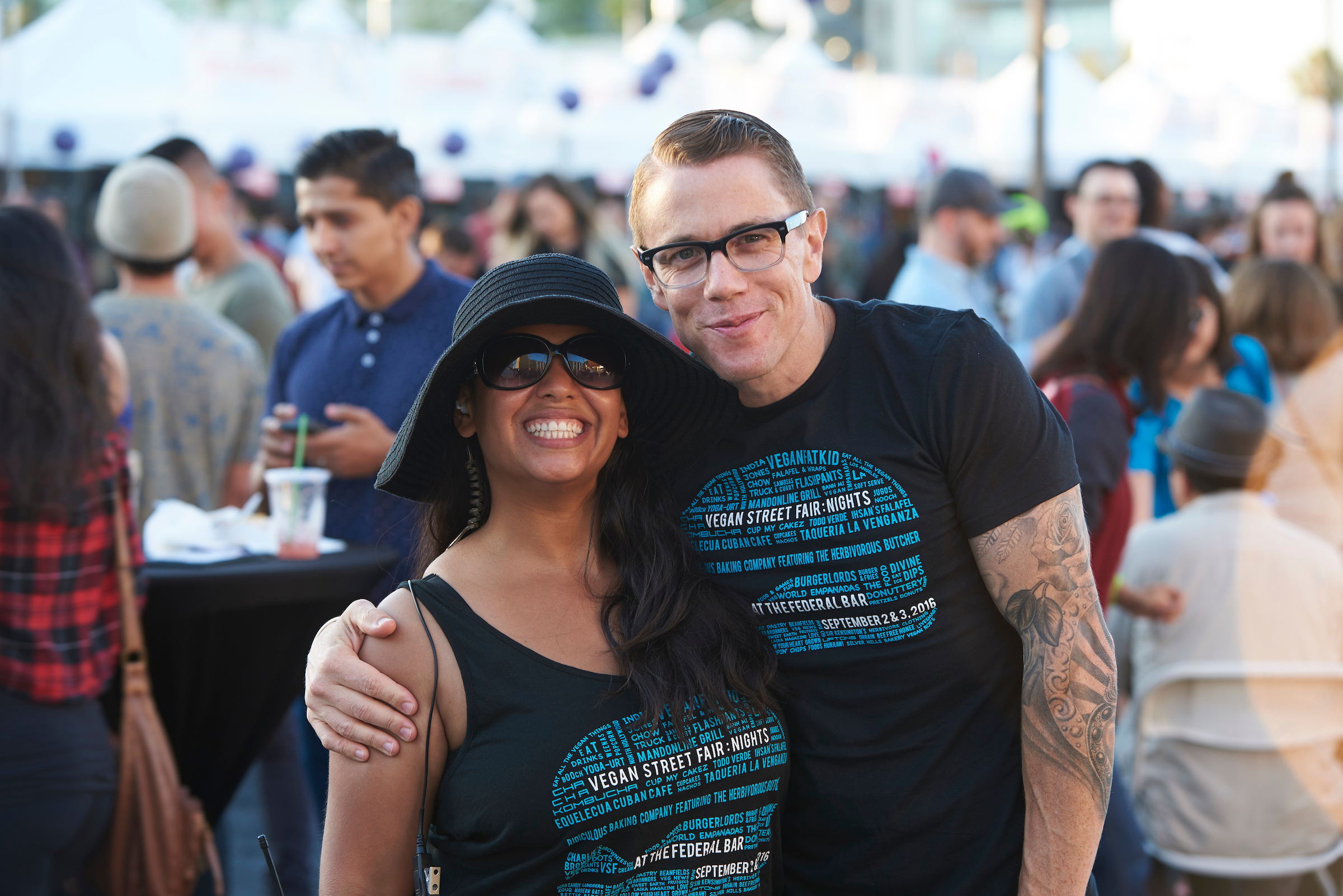 Jess and VeganFatKid at VSF Nights