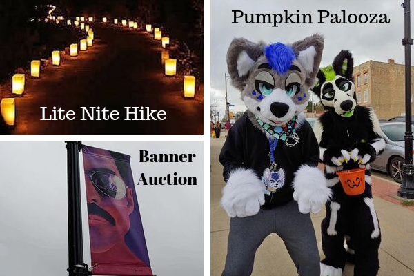 Collage of October events in Watertown.