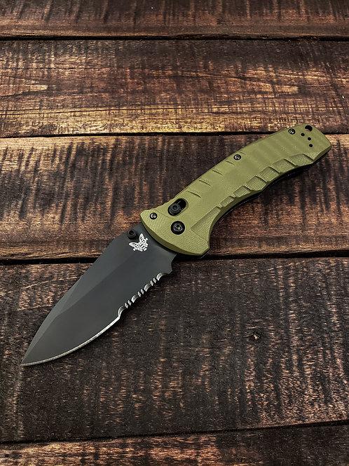 Benchmade Turret AXIS Lock Folding Knife OD Green G-10