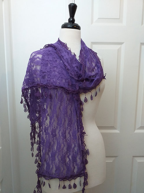 Tear Drops Lace Scarf