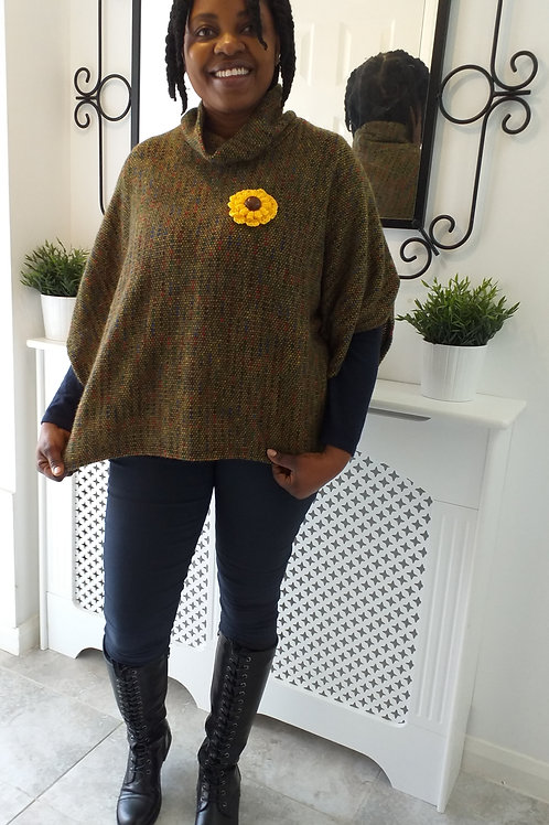 Quirky Rainbow Dot Poncho (SUTTLES)