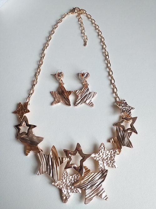 Stars Necklace Set Gold