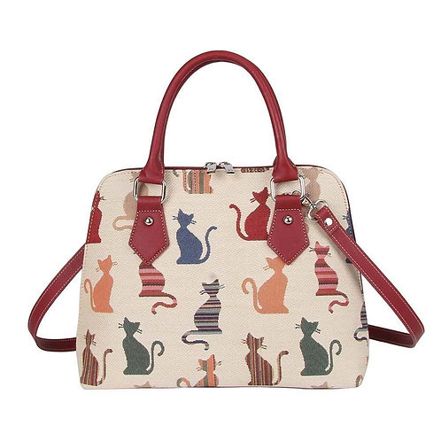 CHEEKY CATS TAPESTRY LADIES SHOULDER BAG