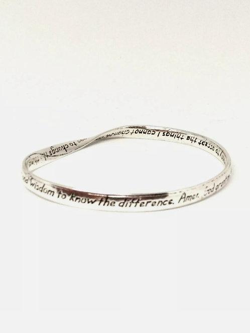 "Scripture Bracelet "" Serenity Prayer ""God grant me the serenity..."""