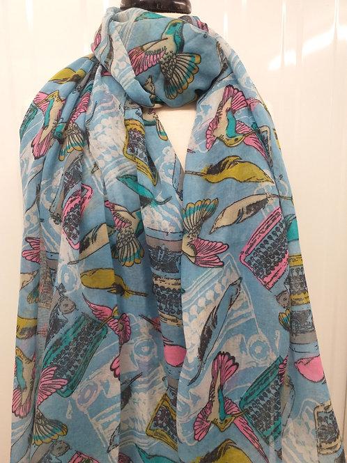 Bird print scarf