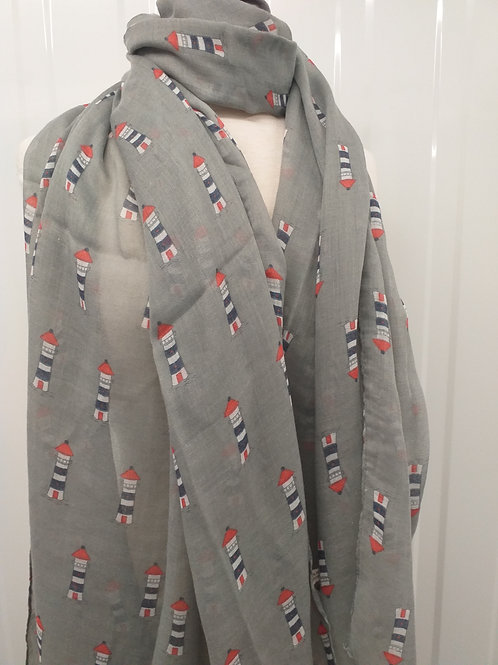 Lighthouse  Scarf Grey