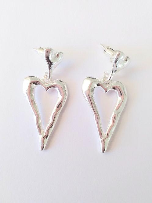 Heart on studd Earrings