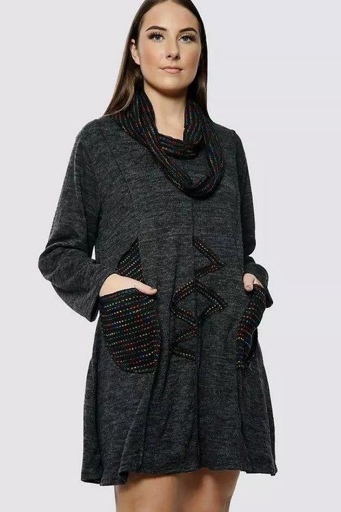 Amore Black Dress Fits Uk 14-24