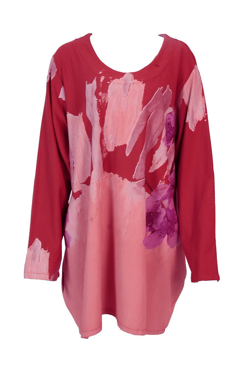Abstract Floral Tunic Dress  Fits 18-22
