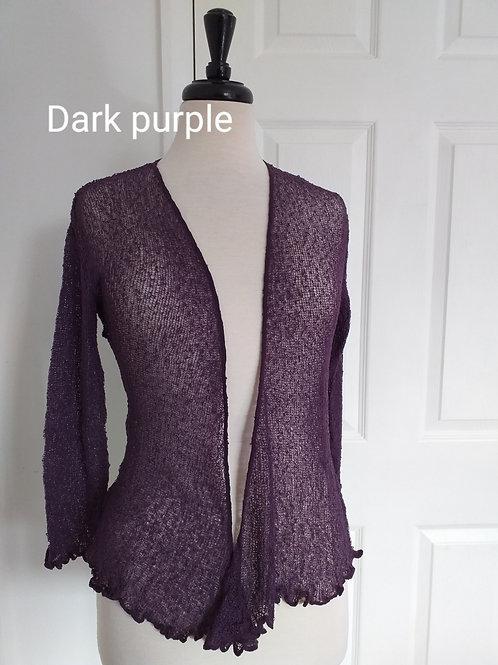 Dark Purple Shrug Bolero Fits UK SIZES 8 10 12 14 16 18