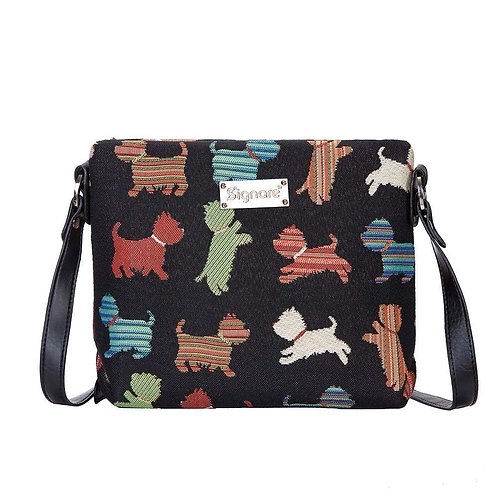Tapestry Across Body Shoulder Bag - PLAYFUL PUPPY SIGNAIRE