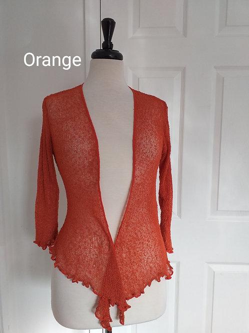 Orange Shrug Bolero Fits UK SIZES 8 10 12 14 16 18