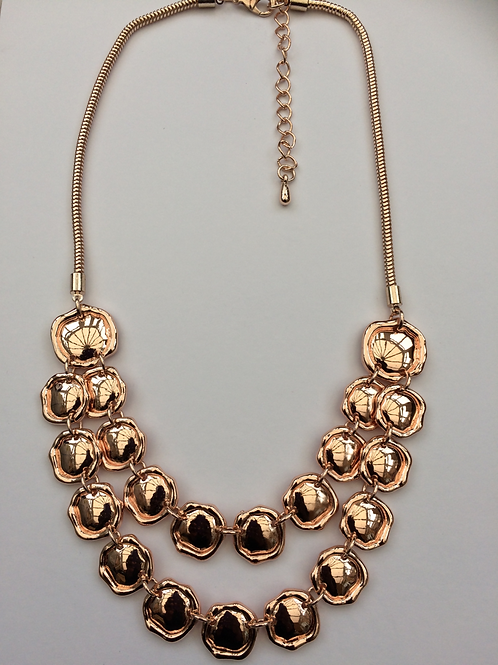 copy of Nickle free double layered Rose Gold necklace