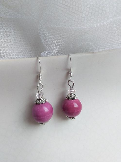 Purple Porcelain Earrings